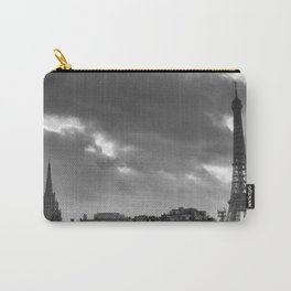 Eiffel tower under the clouds Carry-All Pouch