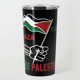 Free Palestine Travel Mug