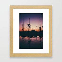 Purple and Orange Skies Framed Art Print