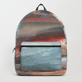 Serenity [2]: an acrylic piece in both warm and cool colors by Alyssa Hamilton Art Backpack