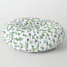 Abstract Watercolor Forest Floor Pillow