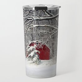Red Barn in the Snow 2011 Travel Mug