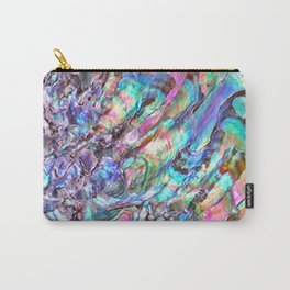 Shimmery Rainbow Abalone Mother of Pearl Carry-All Pouch
