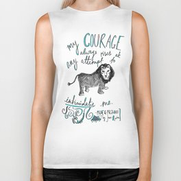 COURAGE: PRIDE AND PREJUDICE by JANE AUSTEN Biker Tank