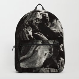 Black and White Tree Bark and Roots Outdoor Nature Photograph Backpack
