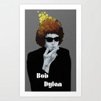 bob dylan Art Prints featuring Bob Dylan by Justin McElroy