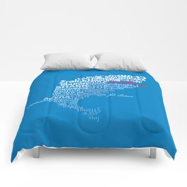 Shark in Different Languages Comforters