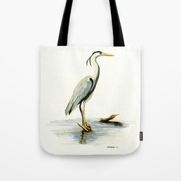 Blue Heron - watercolor bird, home decor, nursery wall art Tote Bag