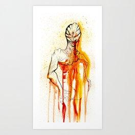 BLOODDY CREATURE Art Print