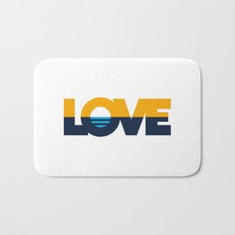 LOVE - People's Flag of Milwaukee Bath Mat