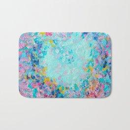 Follow my heart, Abstract Painting Bath Mat