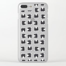Henry the Tuxedo Cat Clear iPhone Case