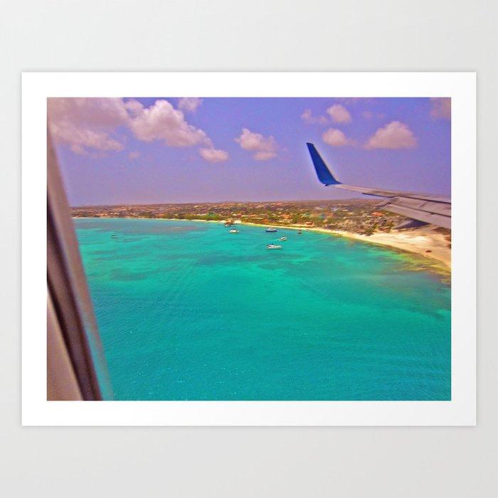 Turquoise Ocean Flight Art Print