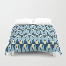 Mid Century Modern Diamond Pattern Blue 232 Duvet Cover