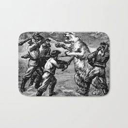 Battle with Animals Bath Mat