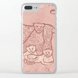 Family Cheetahs Clear iPhone Case