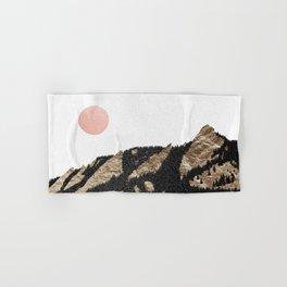 Flatirons Gold // Chautauqua Park Boulder, Colorado Abstract Landscape College Wall Decor Hand & Bath Towel