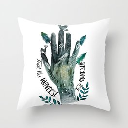 Trust the Universe. Trust Yourself Throw Pillow