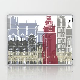 Krakow skyline poster Laptop & iPad Skin
