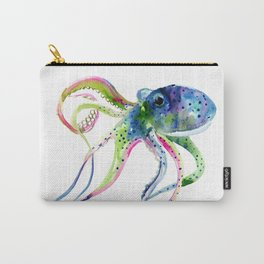 Blue Rainbow Octopus Carry-All Pouch