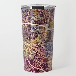 Glasgow City Scotland Street Map Travel Mug