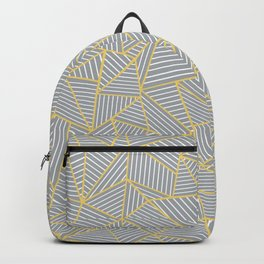 Ab Outline Gold and Grey Backpack