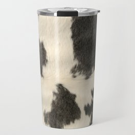Black & White Cow Hide Travel Mug