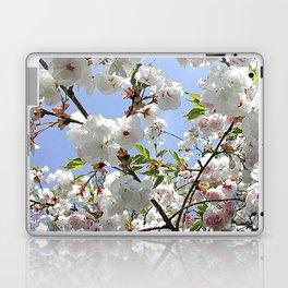 White Blossoms Laptop & iPad Skin