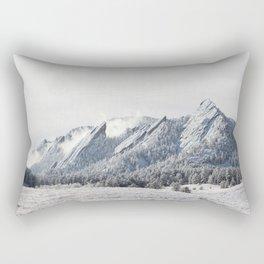 Frosty Flatirons Rectangular Pillow