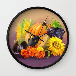 Commisions | Bat autumn harvest Wall Clock