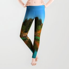 A village in the mirror Leggings