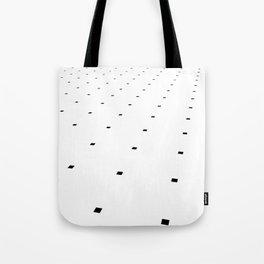 Black and White Minimal Pixels III Tote Bag