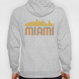 Vintage Style Miami Florida Skyline Hoody