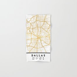 DALLAS TEXAS CITY STREET MAP ART Hand & Bath Towel