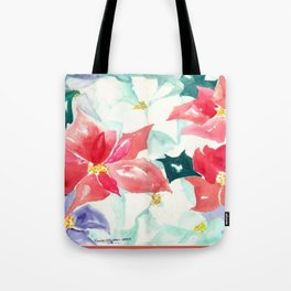 Poinsettia Cheer Tote Bag