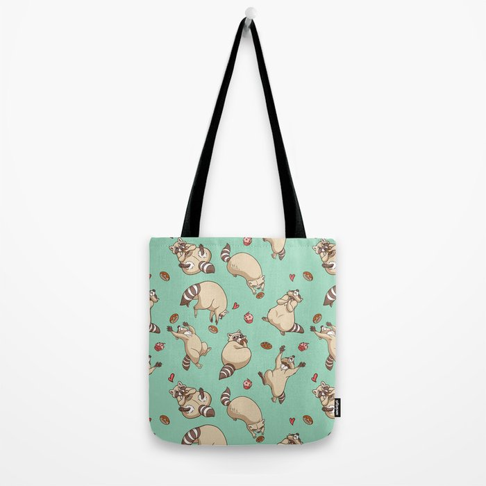 Raccoons Love Tote Bag