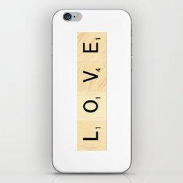 LOVE - Scrabble Letter Tiles Art iPhone Skin