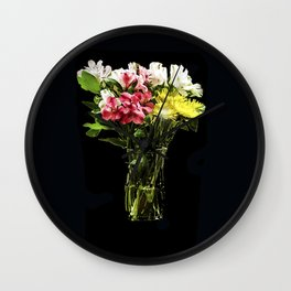 FLOWERS IN A VASE Wall Clock