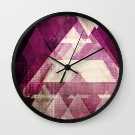 modern mid century, Graphic art, neutral colors, geometric art, circles, modern painting, abstract p Wall Clock