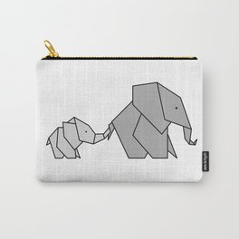 Origami Baby Elephant Carry-All Pouch