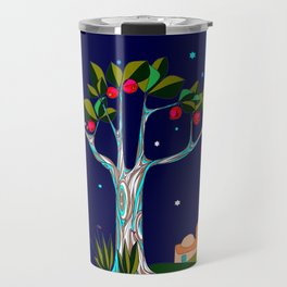 A Pomegranate Tree in Israel at Night, Harvest Travel Mug