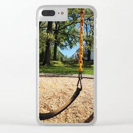 Swings in Summer Clear iPhone Case