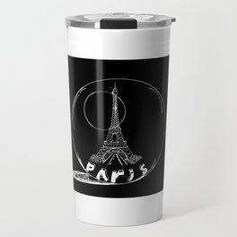 Paris in a glass ball . art . https://society6.com/vickonskey/s?q=popular+prints Travel Mug
