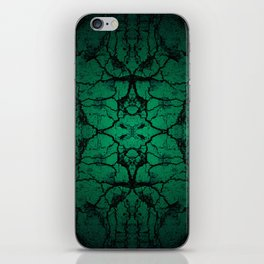 Green cracked wall iPhone Skin