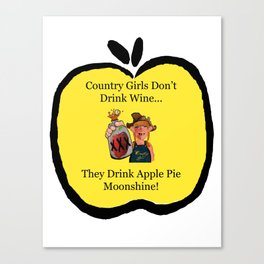 Apple Pie Country Girl Canvas Print