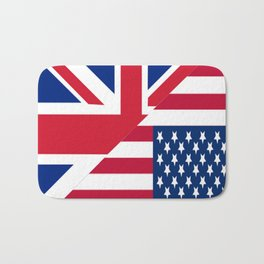 American and Union Jack Flag Bath Mat