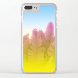 Summer Side Clear iPhone Case