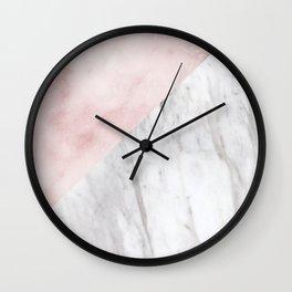 Marchionne Bianco & Silvec Rosa marble soft pink Wall Clock