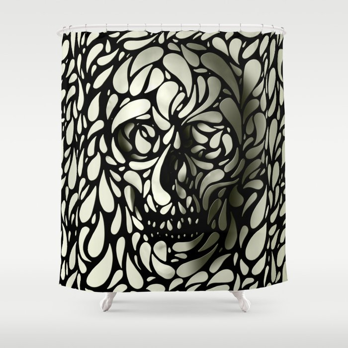 Skull Shower Curtain By Aligulec