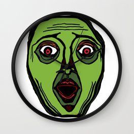 Fright Face (transparent) Wall Clock